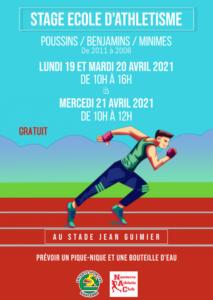 Stage Ecole d'Athlétisme ESNAC vacances de printemps