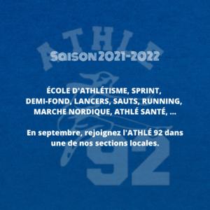 Rentrée Athlé 92 saison 2021-2022