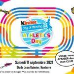 Kinder Joy of moving Athletics Day à Nanterre le 11 septembre